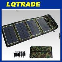 High efficiency  solar panel / 7W Folding solar charging bag / Fashion folding purse type solar energy bag