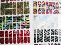 30 pcs/lot nail sticker with 30 pcs  pcs nail file