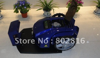 200m Virtual Wire/The Second Genetation /Newest Automatic Lawn Mower+Time Setting By LCD+cutting height: 2.5cm-6.5cm