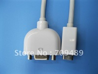 Top sale Mini DVI to VGA Monitor adapter cable For Laptop 30pcs/lot