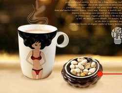#43 A creative gift present super sex girl color change mug diy cup magic mug thief design freeshipping(China (Mainland))