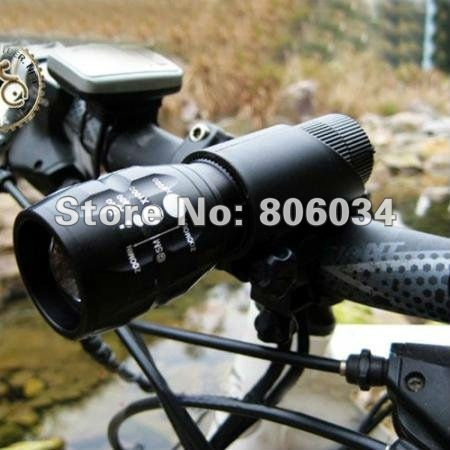Wholesale!freeshipping!5set/lot CREE Q5 240 Lumen LED Bike Bicycle Headlight Front Light with Mount(China (Mainland))