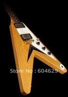 Free Shipping Custom Shop Flying Electric Guitar Natural