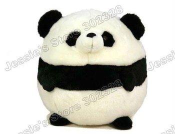 2014 Hot promotion Wholesale 25cm Cute Plush Stuffed Round Panda Soft Toys Free Shipping