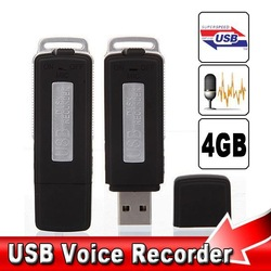 4GB USB Pen Flash Drive Digital Audio Voice Recorder 70 Hours Recording, Free shipping(China (Mainland))