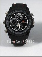 Free shipping   8GB waterproof Watch  camera,model R-201-8GB Hidden camera with 1 pcs with retail box