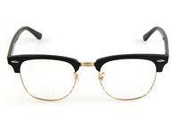 Hotsell Acetate eyeglasses Frame Mens/Women's Brand Name Designer Plastic fashion optical glasses Black clear lens Free shipping