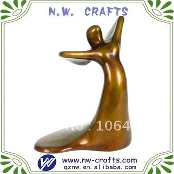 Wholesale golden abstract figurine souveinr