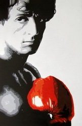 hand-painted wall art Great handsome boxing hero home decoration abstract pop Figure oil painting on canvas mixorde(China (Mainland))