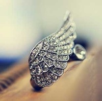 Min.order is $15 (mix order) Retro pirate ship gorgeous angel wings ring