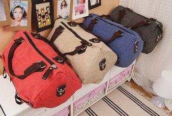 2015 latest fashion unisex canvas shoulder bag, washed color high valued big size cotton canvas travel bag/duffle bag, on sale