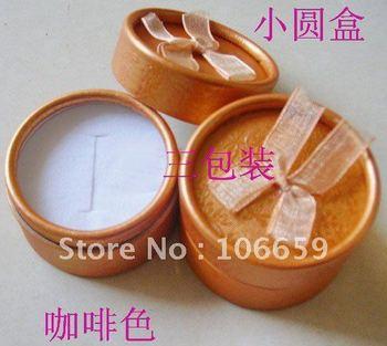 Hot sale Shambhala earrings box round jewelry box ring box gift box 5.2 * 3.8cm 48pcs