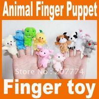 Cartoon Animal Finger Puppet,Finger toy,finger doll,Baby Toys,Animal doll Free Shipping 100pcs/lot (10pcs/bag)