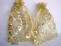 200pcs  GOLD Wedding Jewelry Package Favor Gift Bags Pouch Organza 10X15CM
