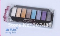 Best  8 full color makeup eyeshadow palette eye shadow professional comestics set NATURAL Portable