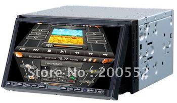 "7"" 2 DIN car DVD navigation with ATV Bluetooth IPOD PIP Radio 3D interface Dual zone"