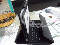 Leather Case + Wireless Bluetooth Keyboard For iPad 2