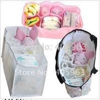 Free Shipping  Baby Diaper Nappy Bottle Storage Organizer Multi Bag MoM Organizer Bag Insert mommy bag