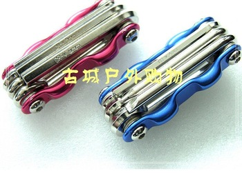 bicycle bike multifunction Bike maintenance tools,multifuntion spanner,Six spend wrench 8in 1