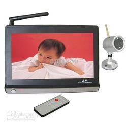 Wireless 7inch TFT LCD Monitor 2.4ghz double cameras baby monitor for baby care(China (Mainland))