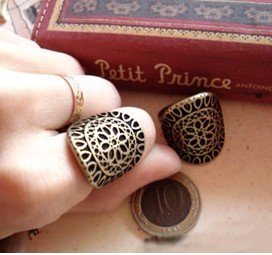 Min order $6, R072 Free shipping,New vintage Carving decorative pattern bronze alloy finger rings/cool ring,fashion jewelry
