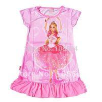 8 pieces in 1 lot  FREE SHIPPING children kid sleep dress sleepwear nightgown QZ003 lovely night dress 4 size
