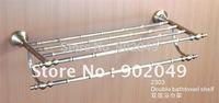 Classic Design Double Bathtowel Shelf Bathroom Enclosure KG-2303 Brass Towel Shelves Bar Accessories Wholesale