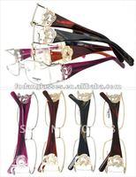Fashion rhinestone eyewear Eyesjoy 1084 frame acetate spectacle frame slim reading glasses stock cheap desiginer eyewear