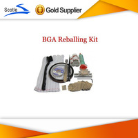 BGA Reballing Kit 33pcs NV Heat Direct BGA Stencils+Reballing Jig+Desoldering Wick+Other BGA Accessories