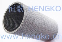 Double-layer nets pipe filter