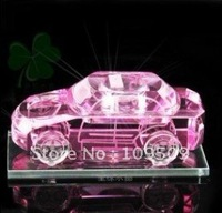 Free Shipping,Crystal Car Assorted Colors for Birthyday Gift or Wedding Decoration/Crystal Handicraft