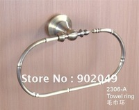 Towel Ring Bathroom Enclosures KG-2306-A Oval Towel Hooks Sanitary Ware Fitting Free Shipping