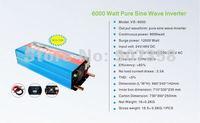 6000W/6KW 24V dc to 220V/240V ac Pure Sine Wave Power Inverter  (12kw/12000w peak power) Free shipping