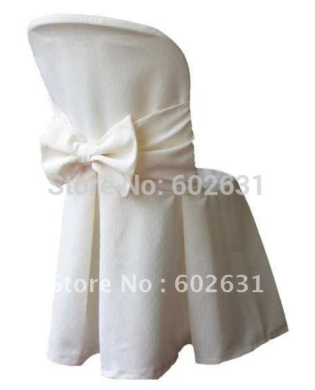 Hot sale of white chair cover for dining chair quality Polyester fabric washa