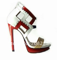 Fashion sandals for women summer shoes patent leather wedge heels platform pumps sexy high heel shoes 12cm heels