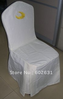 L-114,Hot sale of white chair cover ,high quality Polyester fabric,washable/durable