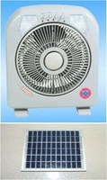 solar power fan with 20 LEDs lamp