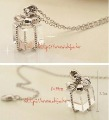 Amazing transparent gift package pendant necklace , fashion package charm necklace chain ,6016.64,FrEe ShIpPInG