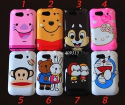10pcs/lot Free shipping cartoon plastic hard case for HTC G8S G13 Wildfire S A510e Hot Sale(China (Mainland))