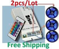 2PCS/LOT Music Audio Sound Driver RGB x3 Strip Light LED Controller 12V 60W IR Remote