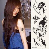 Black female tattoo stickers waterproof totem