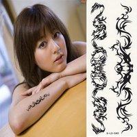 Black sexy tattoo stickers waterproof Taichi totem