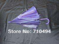 free DHL shipping purple transparent  rain umbrella, purple clear umbrella, poe&pvc umbrella, custom logo print acceptable
