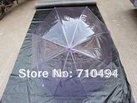 Free DHL shipping purple clear rain umbrella, purple transparent umbrella, poe&pvc umbrella, custom logo print acceptable