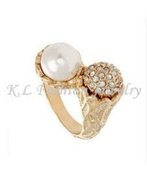 Кольцо Flower&pearl ring 12Pcs/Lot GL022720