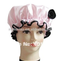 Satin shower cap