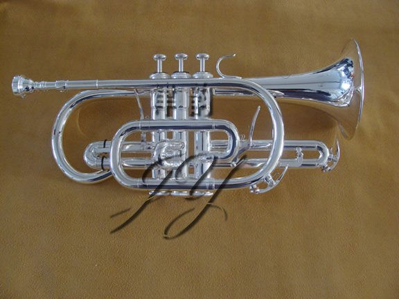free shipping Wholesale Trigger cornet fierce Nile piston surface silver-plated in stock(China (Mainland))