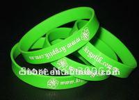 Printing Silicon Bracelet with customized logo one inside band