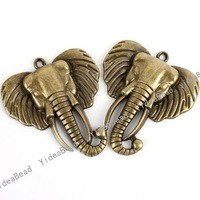 20pcs New Elephant Shape Antique Bronze Tone Charms pendants Beads Animal Jewerly Findings 140783