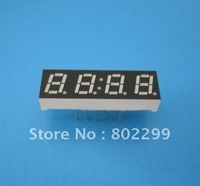 "7 Segment LED Digit Display: 0.28"" 4 DIGIT Super Red 7-Segment Common Anode 12P LED display clock board"
